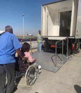 Wheelchair assistance at Aswan airport