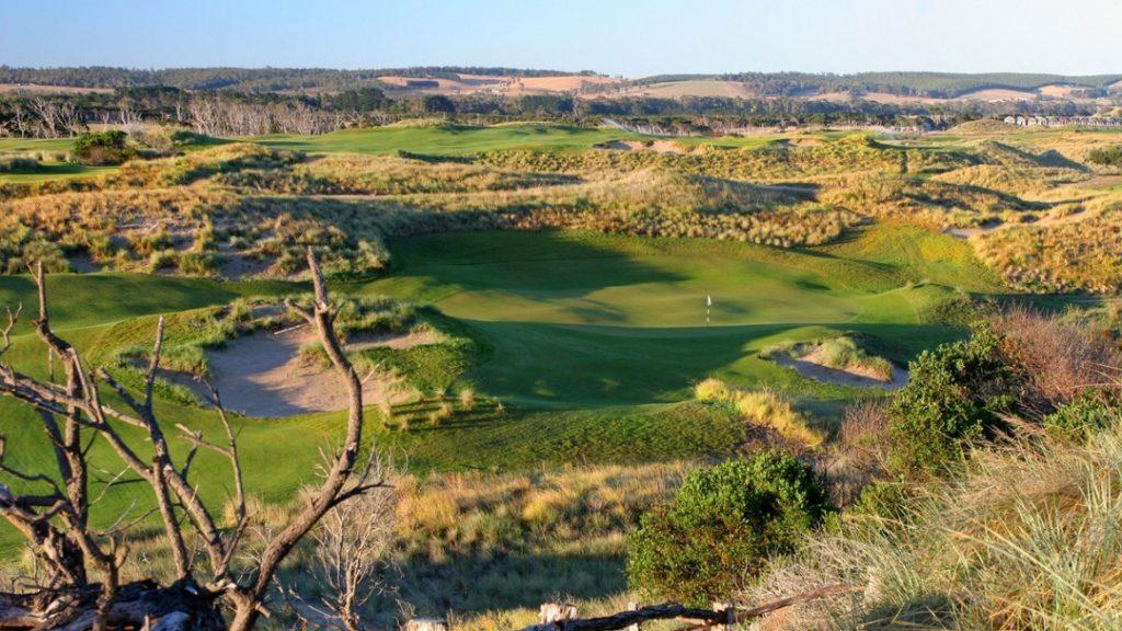 Aerial View of Barnbougle Dunes Golf Links, TAS