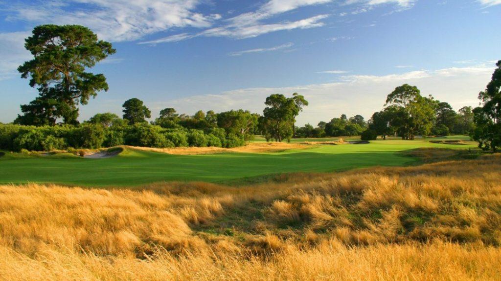 grass and the green at Kingston Heath Golf Club, VIC