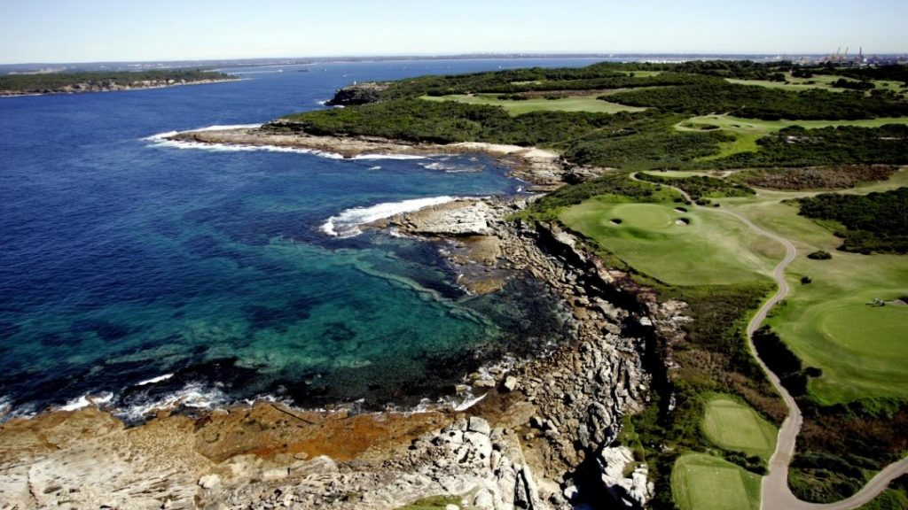 Coastal Aerial view at NSW Golf Course, Sydney, NSW