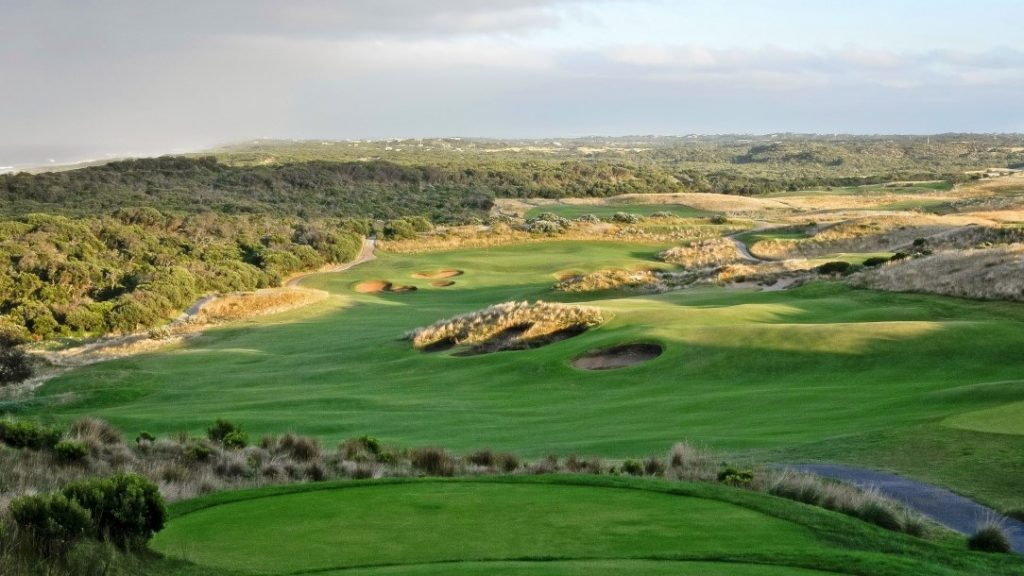 Aerial View of the National Golf Club, Mornington Peninsula