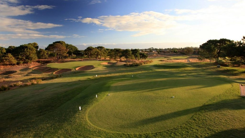 Aerial View of the green at The Royal Adelaide Golf Club, Adelaide, SA